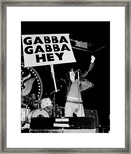 Photo Of Ramones Framed Print by Larry Hulst