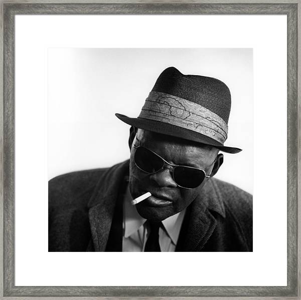 Photo Of Rev Gary Davis Framed Print by David Redfern