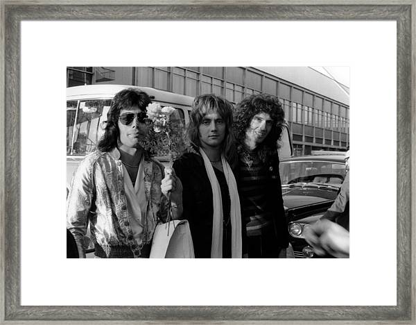Photo Of Roger Taylor And Queen And Framed Print