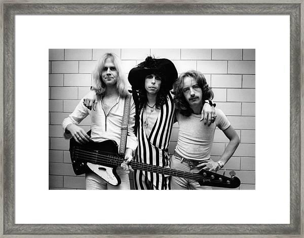 Photo Of Steven Tyler And Aerosmith And Framed Print