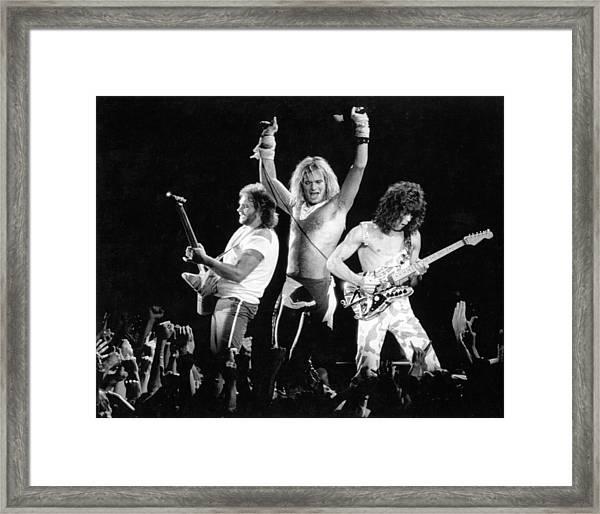Photo Of Van Halen Framed Print