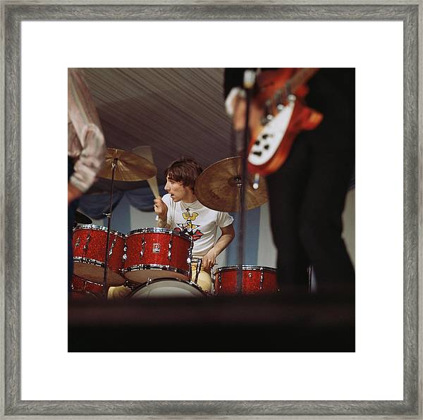 Photo Of Who And Keith Moon Framed Print