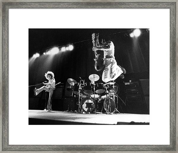Photo Of Who And Roger Daltrey And Pete Framed Print