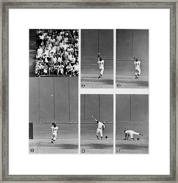 Photo Sequence Willie Mays Makes His Framed Print