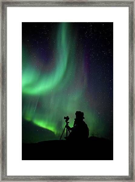 Photographer Catching Beautiful Light Framed Print