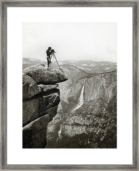 Photographer In Yosemite Valley Framed Print