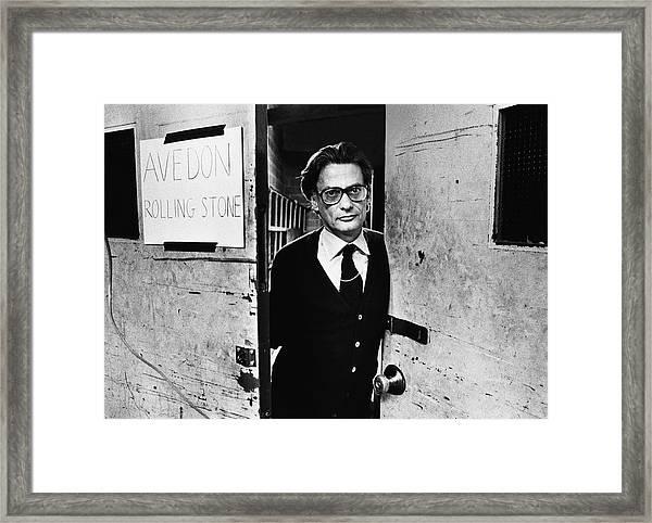 Photographer Richard Avedon Portrait Framed Print