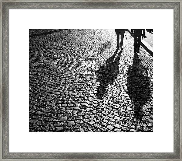 Photographers At Dawn In Montmartre Framed Print