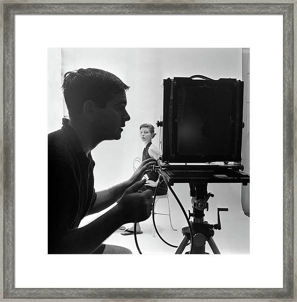 Photographing Bettina Framed Print by Gordon Parks