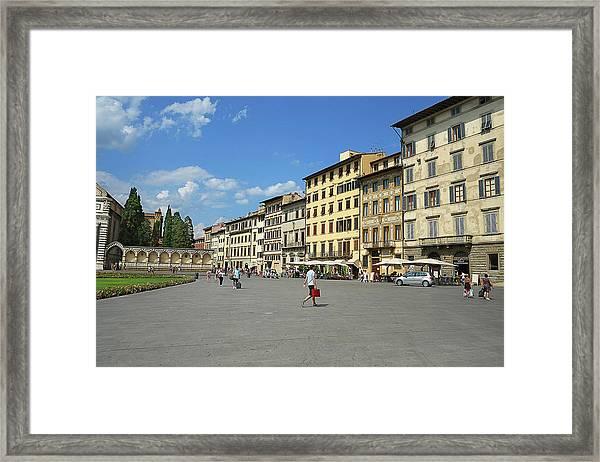 Piazza Santa Maria Novella Framed Print