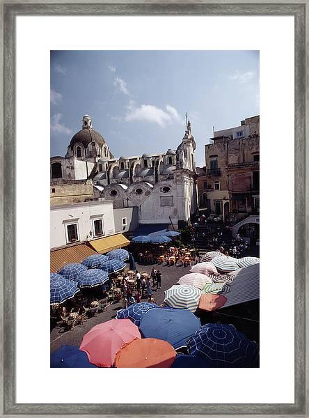 Piazza Umberto Framed Print