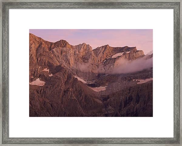 Pic De Marbore Alpen Glow Framed Print