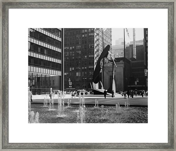 Picasso Sculpture At Chicago In Framed Print by Keystone-france