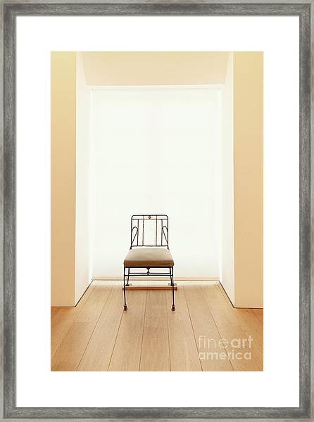 Picasso's Museum Chair Framed Print