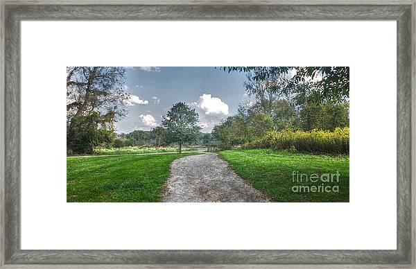 Pickerington Ponds Walkway Framed Print