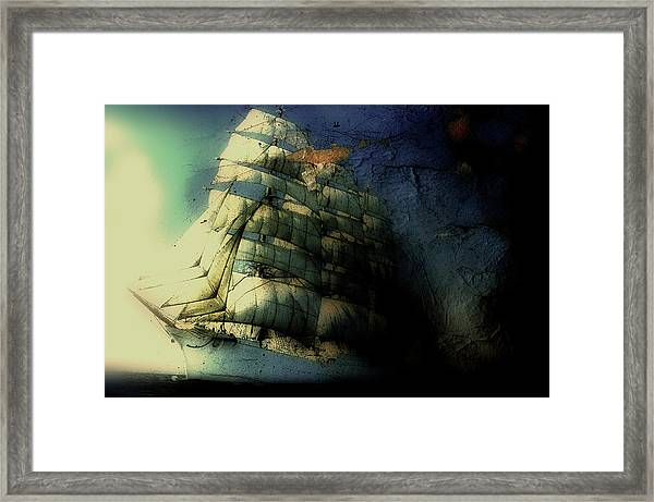 Picture Of A Sailboat Painted On A Framed Print