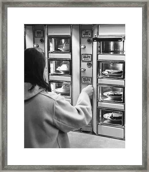 Pie At The Automat Framed Print