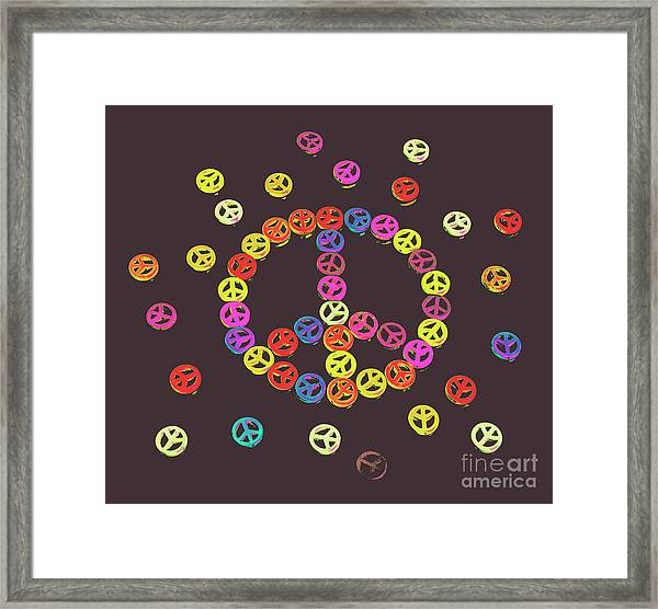Pieces Of Peace Framed Print
