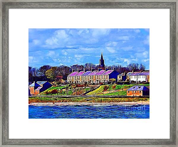 Pier Road, Berwick, Northumberland Coast - Photo Art Framed Print