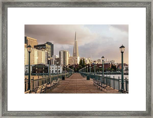 Pier Seven And Transamerica Pyramid Framed Print