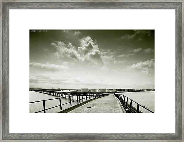 Pier-shaped Framed Print