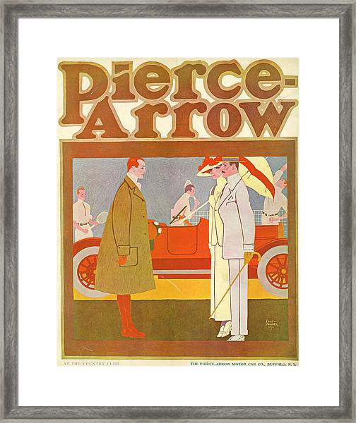 Pierce-arrow Advertisement Framed Print