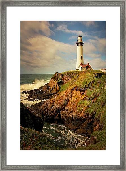 Pigeon Point Light Station, California Framed Print