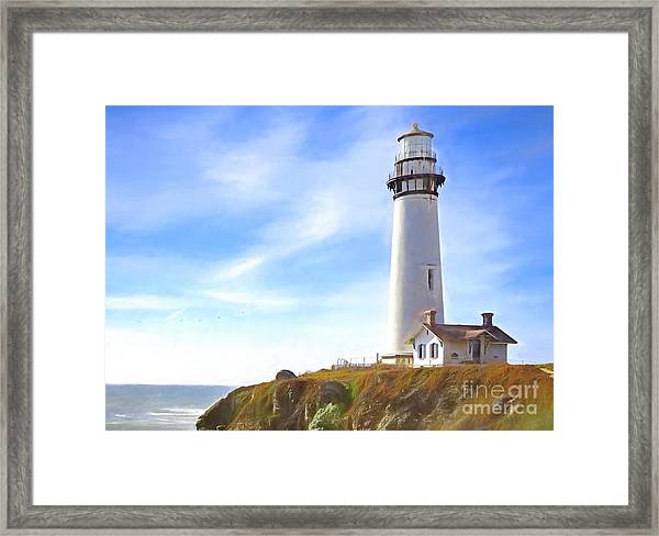 Pigeon Point Lighthouse Ca Framed Print