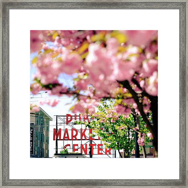 Framed Print featuring the photograph Pike Place Market In Seattle by Nicole Young