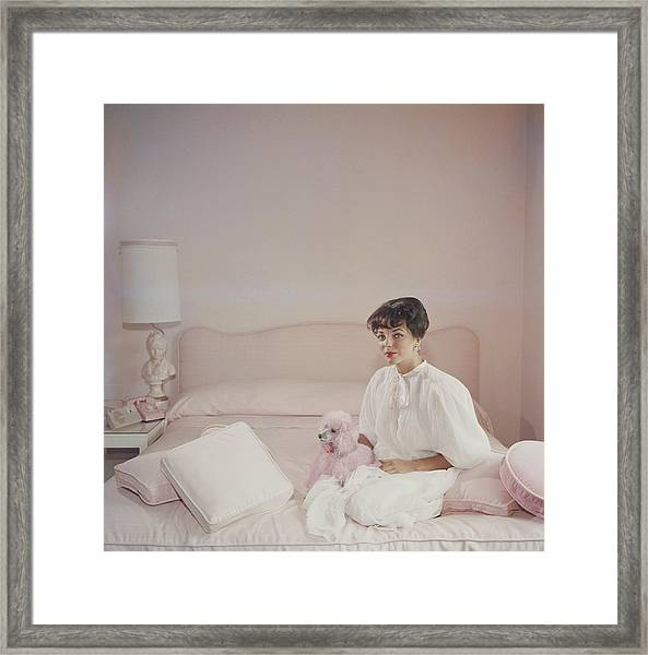 Pink Accessory Framed Print by Slim Aarons