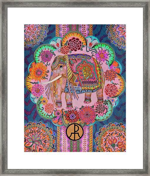 Pink Elephant Framed Print