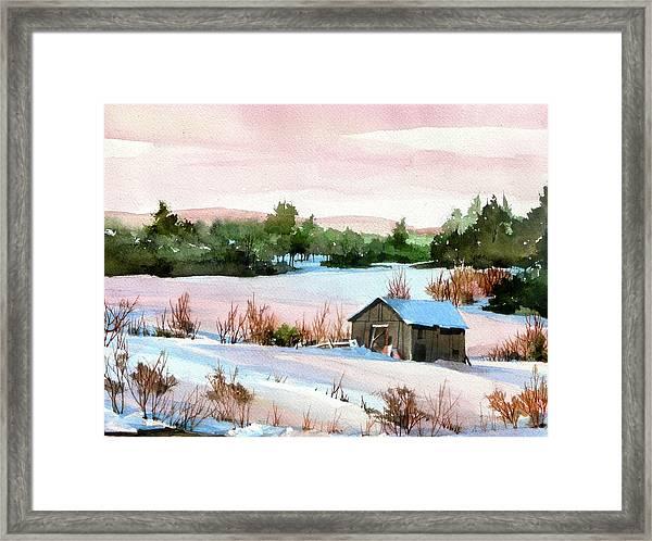 Pink Glaze Framed Print by Art Scholz
