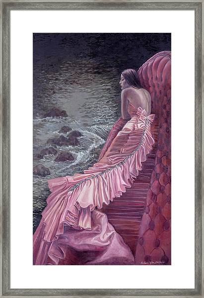Pink Taffeta Framed Print by Barbara Tyler Ahlfield