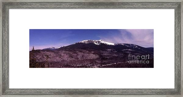 Pinkham Notch Mount Washington Framed Print by Alan Del Vecchio