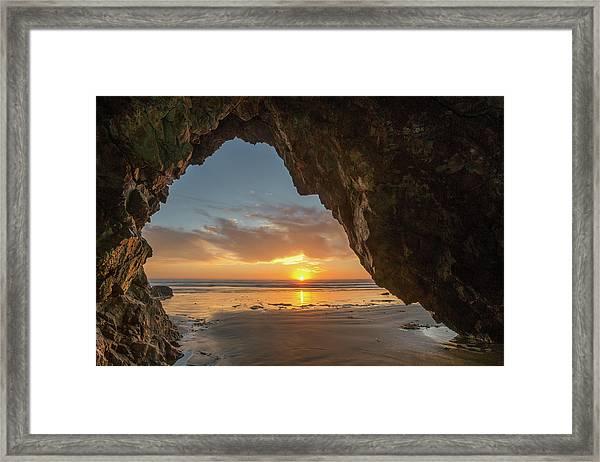 Pismo Caves Sunset Framed Print
