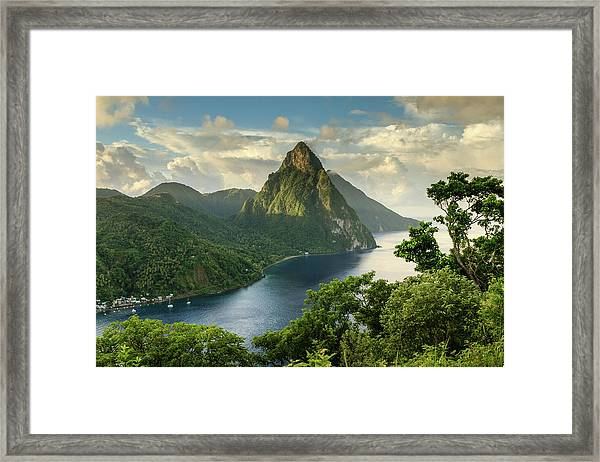 Piton View - Saint Lucia Framed Print