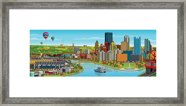 Pittsburgh Panorama Autumn Framed Print