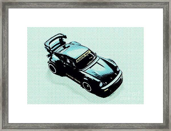 Pixel Porsche Framed Print