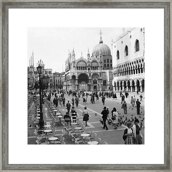 Place, San Marco Place At Venise In Framed Print