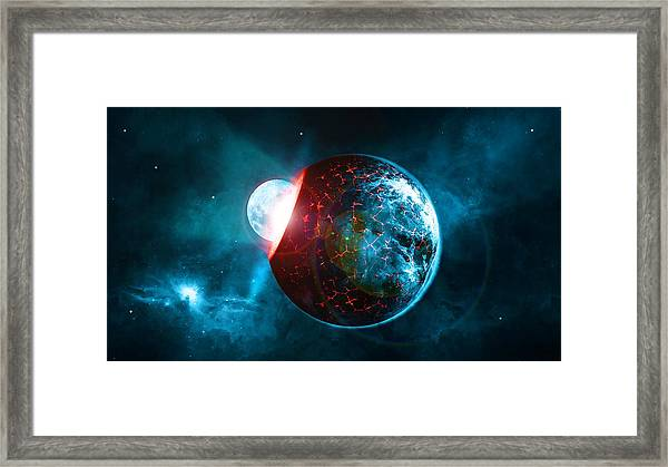 Planet Impact Framed Print