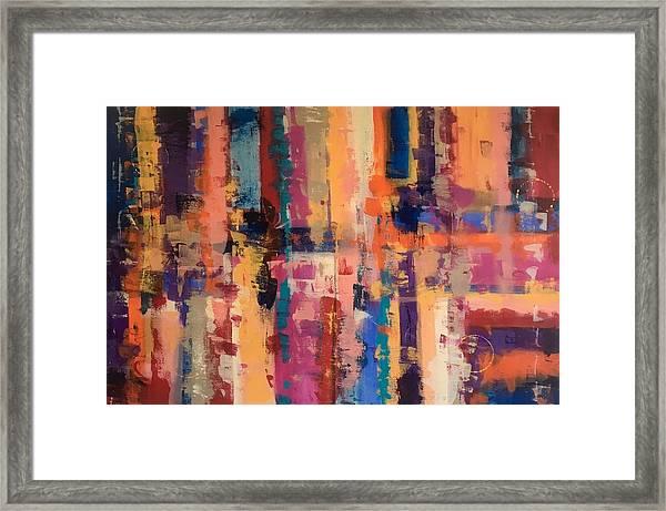 Playful Colors Iv Framed Print