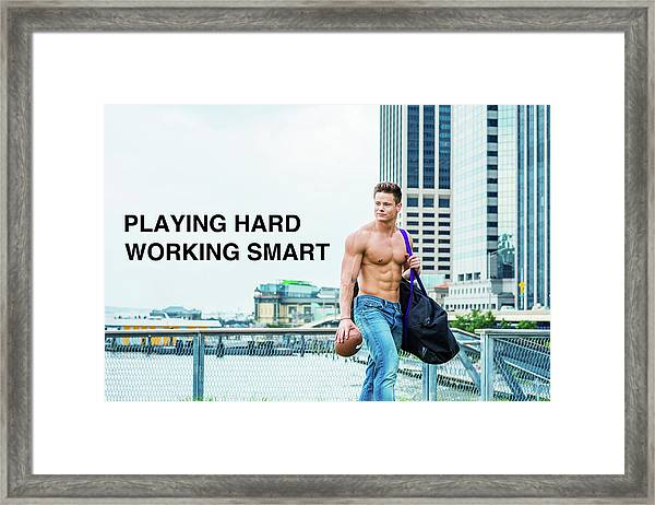 Framed Print featuring the photograph Playing Hard, Working Smart by Alexander Image
