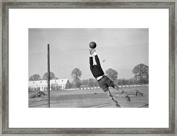 Playing In Goal Framed Print