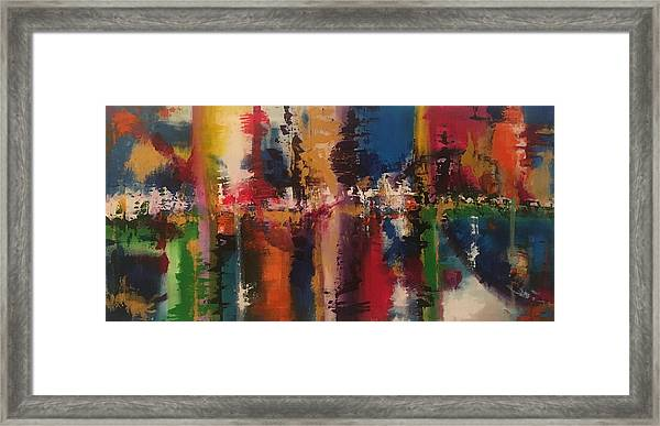 Playing With Color II Framed Print