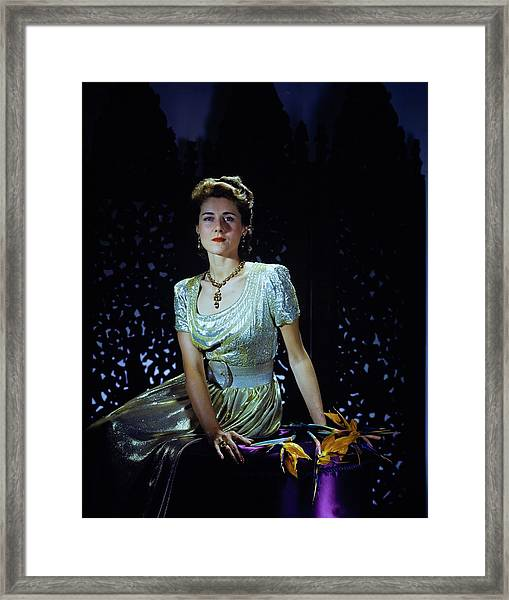 Playwright Clare Boothe Luce Framed Print by Horst P. Horst