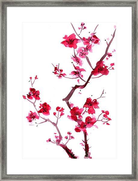 Plum Blossom Painting Framed Print