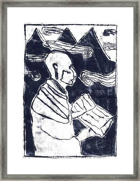 Poet Reading To Wind Clouds Otdv3 13 Framed Print