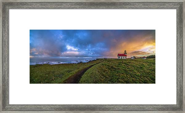 Point Cabrillo Light Station Panorama Framed Print