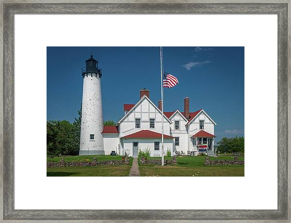 Point Iroquois Lighthouse Framed Print