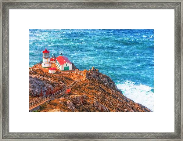 Point Reyes Lighthouse Framed Print by Fernando Margolles